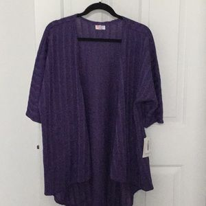 NEW- LuLaroe Purple knit Lindsay Size- Small